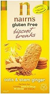 Nairn's Gluten Free Stem Ginger Biscuit Break 160g - Pack of 6