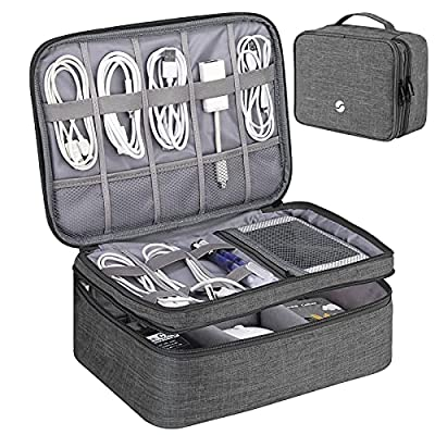Travel Electronics Organizer, Waterproof Cable Organizer