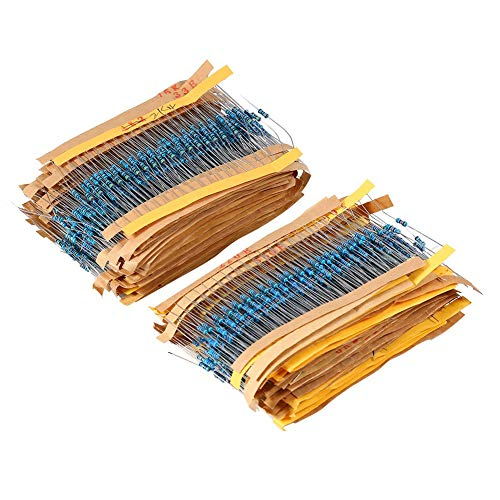 2600 Stücke 0,25 Watt 130 Arten Metallschichtwiderstände Widerstand Komponentensortiment Kit Set für DIY Oder Experiment
