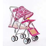 Leichter Kinderwagen, Cool In Summer Simple-Kinderwagen, Kinderwagen Aus Bambus, Klappdach, Rad Mit...