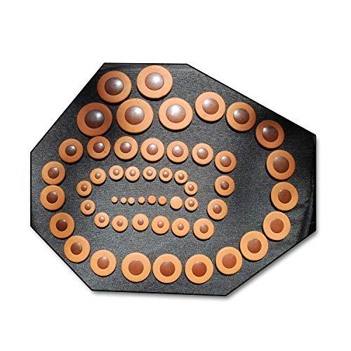 212 Soundman® Zapatillas en cuero para Saxofón Tenor -Juego Universal Zapatilla - 4 x 53 pcs = 212 Zapatillas (Resonadores en Plástico)