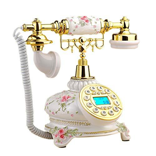 CXYY Retro Festnetztelefon,Desktop-Schnurgebundenes Telefon Vintage Vintage Nostalgic Push-Button Telefon Mode Antike Feste Telefon Stil Home Festnetz Drehknopf Dekor