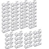 autoadesivo clip cavo fermacavi supporto, 48 pezzi fermacavi in plastica con nastro adesivo, fermacavi da parete, fermacavo per casa o ufficio, cavi da scrivania (transparent)
