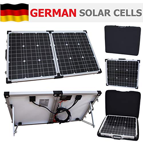 80W 12V Photonic Universe portable folding solar charging kit with...