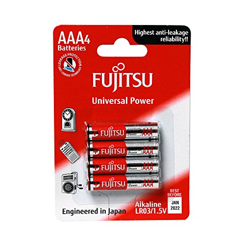 Fujitsu Universal Power FB86550 - Pack de 4 baterías alcalinas (LR03 FU, tamaño AAA, 1,5 V)