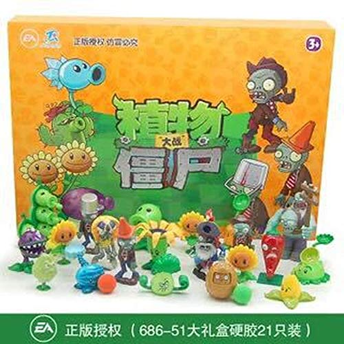 Plants Vs Zombies Action Figures Toys Pea Shooter Piranha Flower Soft Silicone Anime Charactert Plant vs. Zombies Toys Zombie Skittles