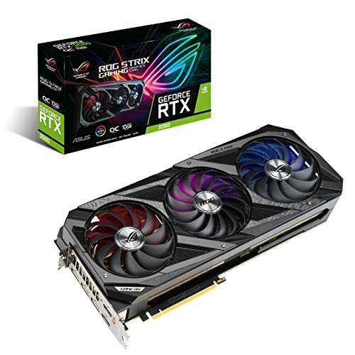 Asus ROG Strix GeForce RTX 3080 Overclock Edition 10 GB GDDR6X, Scheda Video Gaming con led RGB Aura Sync e dissipatore triventola per gaming 4K con alti refresh rate