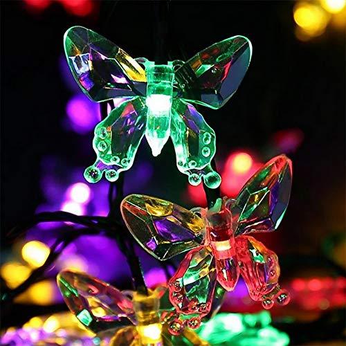 Led-lichtsnoer in bloemenvorm, meerkleurig – verlichting voor buiten, zonne-energie, waterdicht – solar-feeënverlichting stroomvoorziening voor Kerstmis