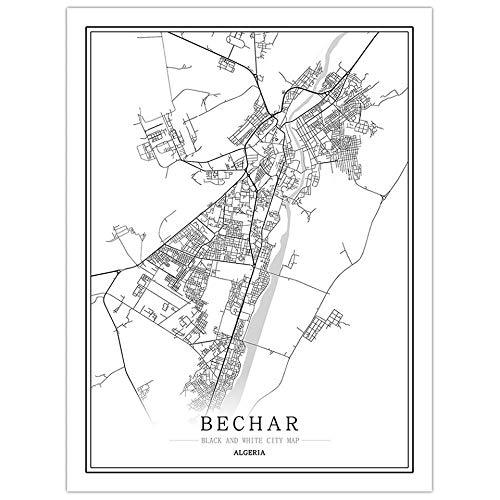 Argelia Mapa creativo ciudad Pinturas abstractas lienzo