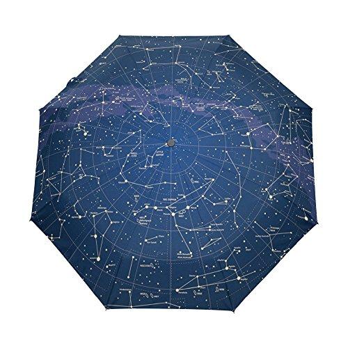 Sonnenschirm Regenschirm Kreative Automatische Universum Regenschirm Sternenkarte Sternenhimmel Faltschirm Für Frauen