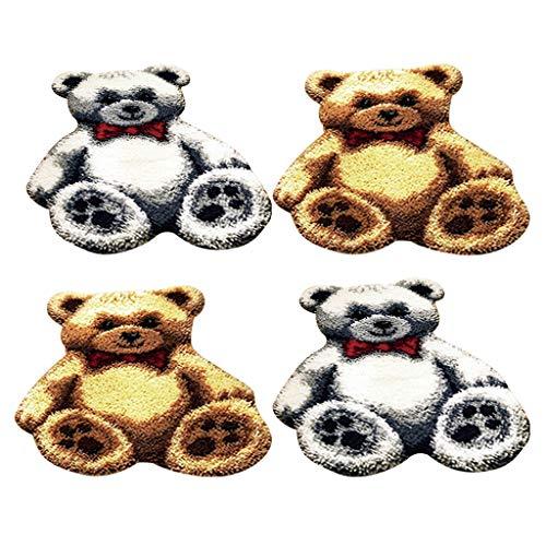 IPOTCH 4 Juego De Ganchos para Colgar La Alfombra Kit DIY Bears Cushion Manta para Niños Adultos