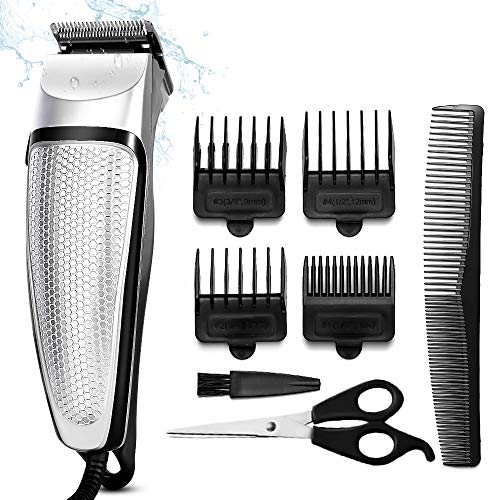 Hair Clippers for Men, Professional Hair Trimmer Set Cordless Rechargeable Adjustment Electric Hair Clippers with 4 Guide Combs for Men/Kids/Baby/Barber Grooming Cutter Kit