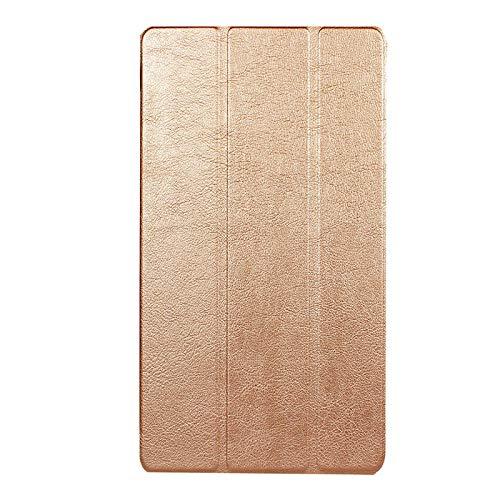Adecuado para Lenovo Tab 7 Funda para Tablet PC Essential TB-7304F Soporte de Plegado Triple Funda de Cuero de 7 Pulgadas-Tyrant Gold_Lenovo / Lenovo