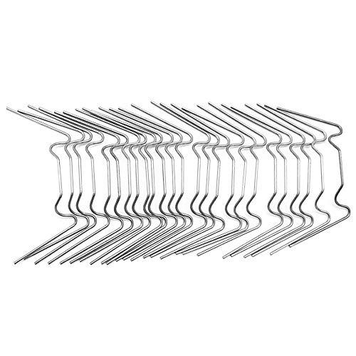 Kirmax Clips de Vitrage pour Serre, Clips en Acier Inoxydable de Type W Clips de Ressort à Lames pour Serre en Verre Twin House Hall 100PièCes SéRies Web