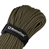"TITAN WarriorCord | OLIVE-DRAB | 103 CONTINUOUS FEET | Exceeds Authentic MIL-C-5040, Type III 550 Paracord Standards. 7 Strand, 5/32"" (4mm) Diameter, Military Parachute Cord. [並行輸入品]"
