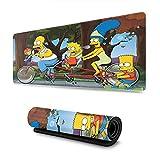 The Simpsons - Alfombrilla de ratón con bordes cosidos, alfombrilla de ratón para juegos con textura de primera calidad, antideslizante, base de goma resistente al agua para PC portátil