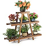 HYNAWIN Wood Plant Stand