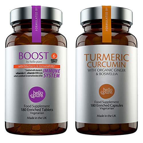 Hello Pure Multivitamins Bundle (Boost + Turmeric, Pack of 2)