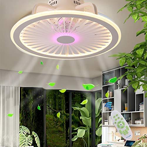 Deckenventilatoren Mit Beleuchtung LED Deckenleuchte Fernbedienung 56W Ultra-Leise Einstellbare Der Windgeschwindigkeitsommer Betrieb Dimmbar Für Schlafzimmer Wohnzimmer Deckenventilator,Lila