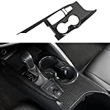 XITER ABS Carbon Fiber Black Gear Shift Knob Console Panel Trims Cover Cup Holder Decor Sticker For Toyota Camry LE SE TRD SE 2018 2019 2020 2021-Without Seat Heater Switch