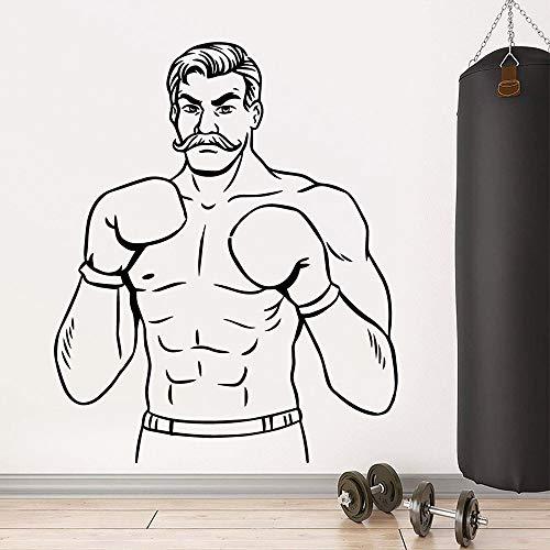 Tianpengyuanshuai Netter Boxing Man Wandaufkleber Kunstaufkleber 42X51cm