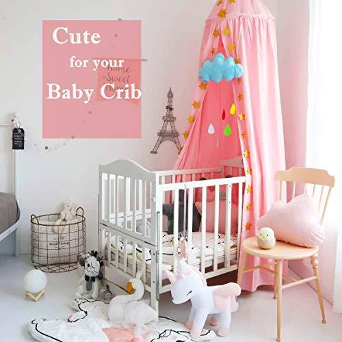 Pink Baldachin, Wenscha Betthimmel Kinder Baby Kinderzimmer Bettvorhang Baumwolle Deko Moskitonetz Insektenschutz für Prinzessin Spielzelte...