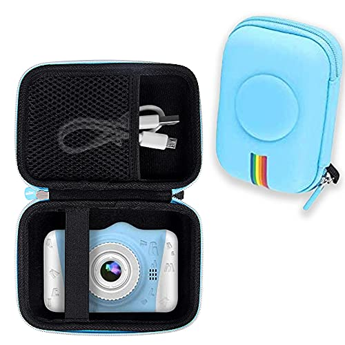 Leayjeen Kids Digital Camera Case Compatible with WOWGO Many Brands Kids Camera Case for Waterproof Camera for Kids and Kids Action Camera Accessories (Case Only) (Blue)