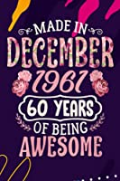 Family Refrigerator Inventory List | Womens Made In December 19660 Years Of Being Awesome Birthday