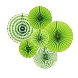 Sunbeauty 6set La Corona Verde papierf. Plato de decoraci¨n para Celebrar la Fiesta de Cumplea?os de 21cm 31cm 42cm sujeto combinaci¨n (Verde)