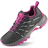 Wantdo Women's Trail Running Shoes Lightweight Hiking Shoes Runner Jogging Athletic Sneakers Garnet Grey 6.5 M US