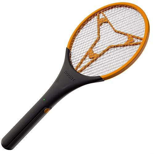 Hoont Electric Fly Swatter | Large Handheld Indoor & Outdoor Mosquito & Bug Zapper with Battery-Powered Mesh Grid & Heavy-Duty Tennis Racket Design | Eco-Friendly, Non-Toxic, Safe for Humans & Pets