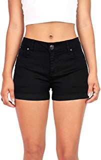 Women's Juniors Mid-Rise Denim Shorts