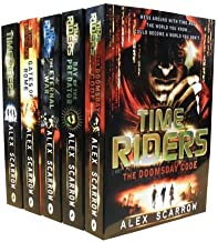 TimeRiders Collection Alex Scarrow 5 Books Set Pack (Time Riders, Gates of Rome, The Eternal War, The Doomsday Code, Days of the Predator) (TimeRiders)