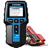 Autobatterietester 12V 24V Lasttester, TOPDON BT200 100-2000CCA Autobatterie-Tester Generatorprüfer für Kraftfahrzeuge Digitaler Autobatterieanalysator Ladekurbelsystemtester für PKW-LKW ATV Auto Boot