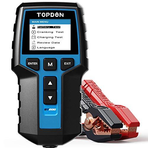 Topdon Car Battery Tester 12V 24V Load Tester, BT200 100-2000CCA Automotive...