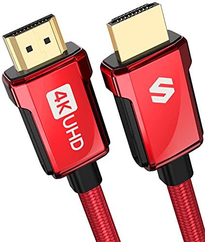 4K HDMI Kabel 2m, Silkland High Speed HDMI 2.0 Kabel 18Gbps, ARC, 4K HDR, 3D, 2K, 1080P, Ethernet, Geflochtenes 30AWG HDMI Kabel 4K aus Zinklegierung, Kompatibel mit HDTV, Monitor, PS4/PS5, Projektor