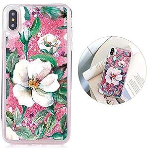 Dünn Slim Weich TPU für iPhone 6S Plus iPhone 6 Plus,Durchsichtiges Klar Transparent Flexible Gel Gomma Sparkle Bling Glitter Silikon Hülle Bumper