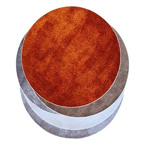 Alfombra elíptica Decomado de la plataforma de la plataforma de la plataforma de la plataforma sin deslizamiento alfombras naranja blanco Seda Nylon Suelo Alfombra para el dormitorio Alfombra de la sa