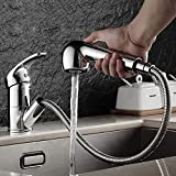 Basin Mixer Tap Single Lever Hole Pull Out Spray Mixer Tap Swivel Spout Chrome Plated Classic Faucet for Bathroom Home Kitchen Washroom