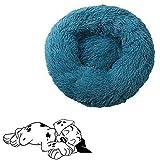 xihan123 Casa Gato Cama para Perros Lavable Cama Gatos Suave Camitas para Perros Pequeños para Gatito Y Cachorro Propio Espacio para Dormir Duerme Tranquilo Cyan,40cm/15.75in