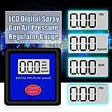 YINGGEXU Medidor de presión de Mini mini pantalla LCD Pantalla de pistola de pulverización medidor de presión de aire de medidor de aire para automóvil herramienta de pintura de reparación de automóvi