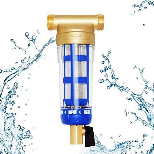 NCBH Filtre réutilisable de Filtre à Eau de sédimentation de Filtre à Eau de purificateur d'eau Filtre pour Maison, Cuisine, Salle de Bain, Tous Les systèmes d'eau Domestique,3/4\