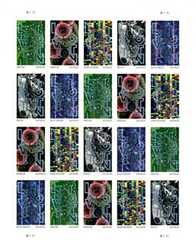 Innovation 2021 USPS Forever Stamps Postage 1 Sheet 20 Stamps First-Class Letter Mail Self-Adhesive Self-Stick