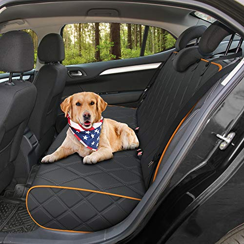 Active Pets Bench Dog Car Seat Cover for Back Seat, Waterproof Dog...