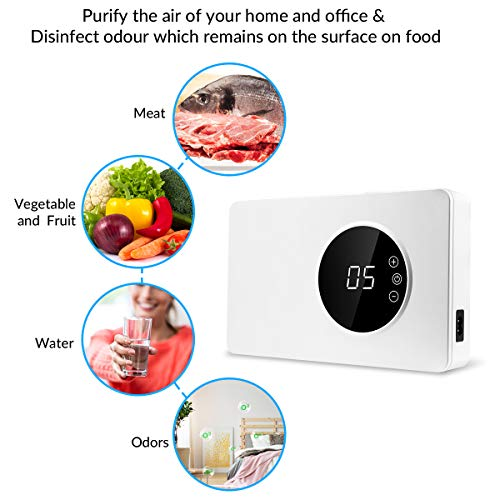 MELEDEN Portable Ozone Generator Purifier,2019 Multipurpose Ozone Purifier with Timer for Water, Food