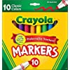 Crayola Broad Line Markers, Classic Colors 10 Each (Pack of 3) |