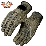 Bikers Gear Australia Limited Leather Roadster Classic guanti da moto marrone, taglia L