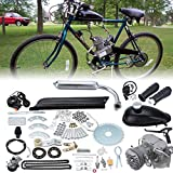 Samger Samger 2 tiempos Kit Motor de Bicicleta Gas Motor Kit de Conversión de Bicicleta (Plata, 80CC)