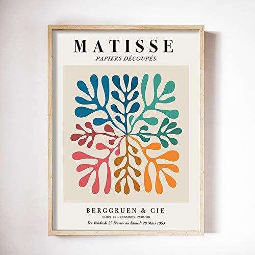 """Henri Matisse Resumen Decoración del hogar Lienzo Arte de la pared Pinturas Cuadros de la pared para la sala de estar Decoración nórdica 40x50cm 16 """"x20"""" Sin marco"""