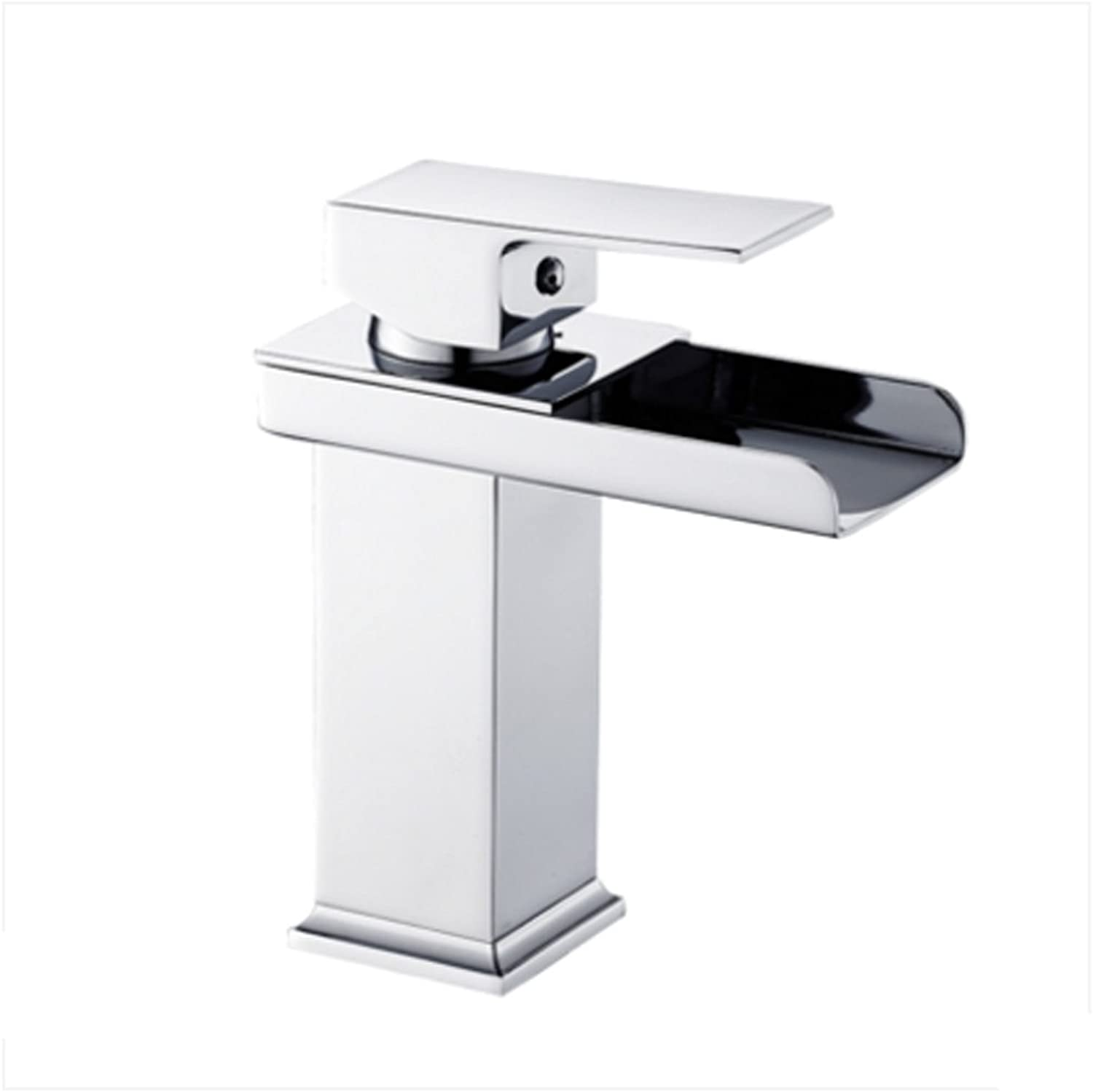 Waterfall Faucet Copper Single Hole Hot And Cold Regulation Bathroom Above Counter Basin Bathroom Wash Hole Size 32mm To 40mm Can Be Installed MUMUJIN (Size   138MM160MM)
